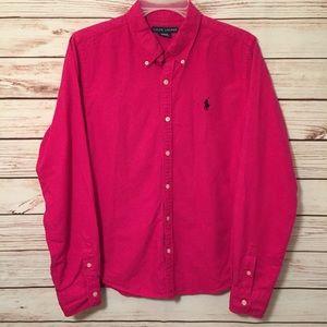 Ralph Lauren Slim Fit Pink Button Down Shirt